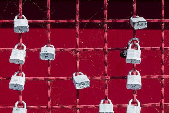locks on grate wall